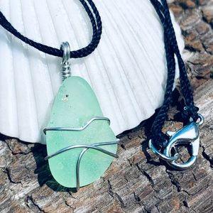 Rainforest Escape Seaglass Necklace